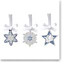 Wedgwood 2021 Charms Set of 3 Snowflakes and Star