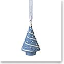 Wedgwood 2021 Figural Christmas Tree Blue Ornament