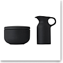 Royal Doulton Barber and Osgerby Olio Black Sugar and Creamer Set