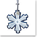 Waterford 2020 Snowcrystal Ornament Topaz Ice