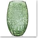Lalique Crystal, Bucolique Crystal Vase, Green