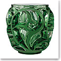 Lalique Tourbillons Small Vase, Light Green