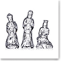 Waterford Crystal Three Wise Men Sculptures, Set of Three
