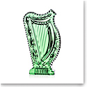 Waterford Crystal Emerald Harp Sculpture