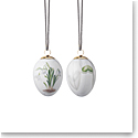 Royal Copenhagen Easter Egg Snowdrop and Snowdrop Petals, Set of 2