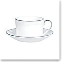 Vera Wang Wedgwood Blanc Sur Blanc Teacup and Saucer
