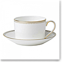 Vera Wang Wedgwood Golden Grosgrain Tea Cup and Saucer