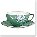 Wedgwood Jasper Conran Chinoiserie Green Teacup and Saucer
