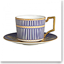 Wedgwood Anthemion Blue Coffee Cup and Saucer