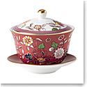 Wedgwood Wonderlust Lidded Bowl Crimson Jewel