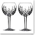 Waterford Crystal Lismore Balloon Wine Glasses, Pair