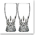 Waterford Crystal, Lismore Pint Beer Glass, Pair