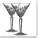 Waterford Crystal Lismore Martini Glasses, Pair