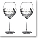 Waterford Master Craft Irish Lace Red Wine Pair