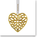 Waterford Crystal 2021 Heart Golden Ornament