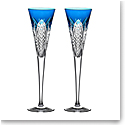 Waterford Crystal Times Square 2022 Gift of Wisdom Flute Pair Cobalt