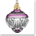 Waterford Crystal 2021 Winter Wonders Midnight Frost Lilac Bauble Ornament