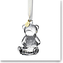 Waterford Crystal 2021 Babys First Christmas Dated Ornament, Bear