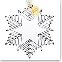 Waterford Crystal 2021 Snowcrystal Dated Ornament