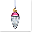 Waterford Crystal 2021 Lismore Drop Ornament Faith Cranberry