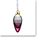 Waterford Crystal 2021 Lismore Drop Ornament Love Cranberry