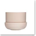 "Iittala Nappula Plant Pot W.Saucer Beige 6.75"""