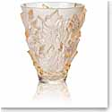 "Lalique Champs Elysees 7"" Vase, Gold Luster"