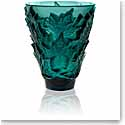 "Lalique Champs Elysees 7"" Vase, Intense Green"