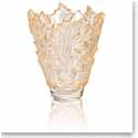 "Lalique Champs Elysees 13"" Vase, Gold Luster"