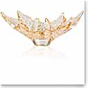 Lalique Crystal, Champs Elysees Small Crystal Bowl, Gold Luster