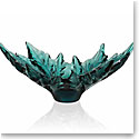 Lalique Crystal, Champs Elysees Crystal Bowl, Intense Green