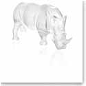 Lalique Rhinoceros Sculpture, Clear