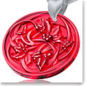 Lalique 2017 Ornament Entrelacs, Red