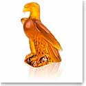 Lalique Crystal, Liberty Eagle Sculpture, Amber