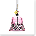 Waterford Crystal 2021 Lismore Bell Ornament Cranberry