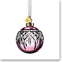 Waterford Crystal 2021 Lismore Bauble Ornament Cranberry