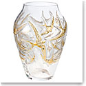 "Lalique Hirondelles Grand Gold 15.5"" Vase, Limited Edition"
