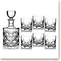 Marquis by Waterford Oblique Decanter and 6 OF Tumbler Set