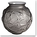 Lalique Hirondelles, Swallows Vase, Grey