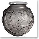 Lalique Hirondelles, Swallows Vase, Grey