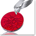 Lalique 2018 Annual Christmas Ornament, Red Hirondelles Swallows