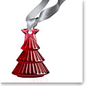Lalique 2018 Tree Christmas Ornament, Red
