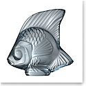 Lalique Fish Sculpture, Persepolis Blue