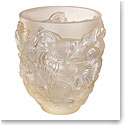 Lalique Rosetail Vase, Gold Luster
