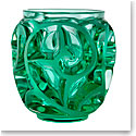 Lalique Tourbillons Vase, Green Mint