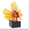 "Lalique Lionfish Lost Wax 18"" Sculpture, Amber Limited Editon of 8"