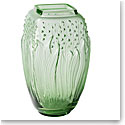 "Lalique Muguet 11.5"" Vase, Green"