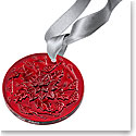 Lalique 2020 Poinsettia Christmas Ornament, Red