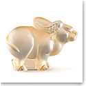 Lalique Zodiac Ox Sculpture, Gold