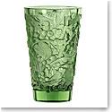 "Lalique Merles et Raisins 8.75"" Vase, Green"